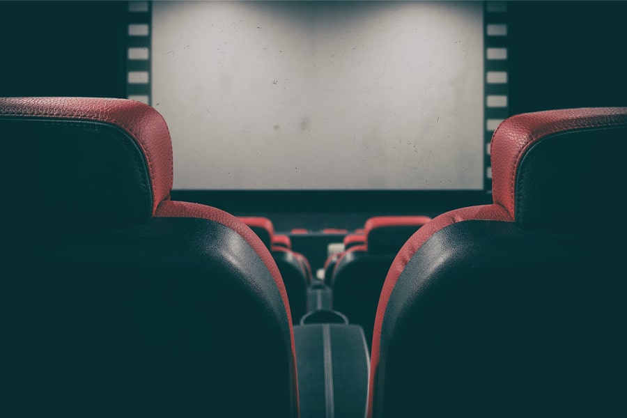 this image shows movie theater and seats