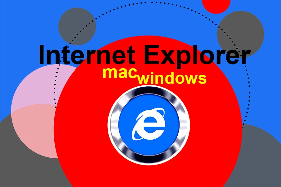 Internet Explorer logo with text