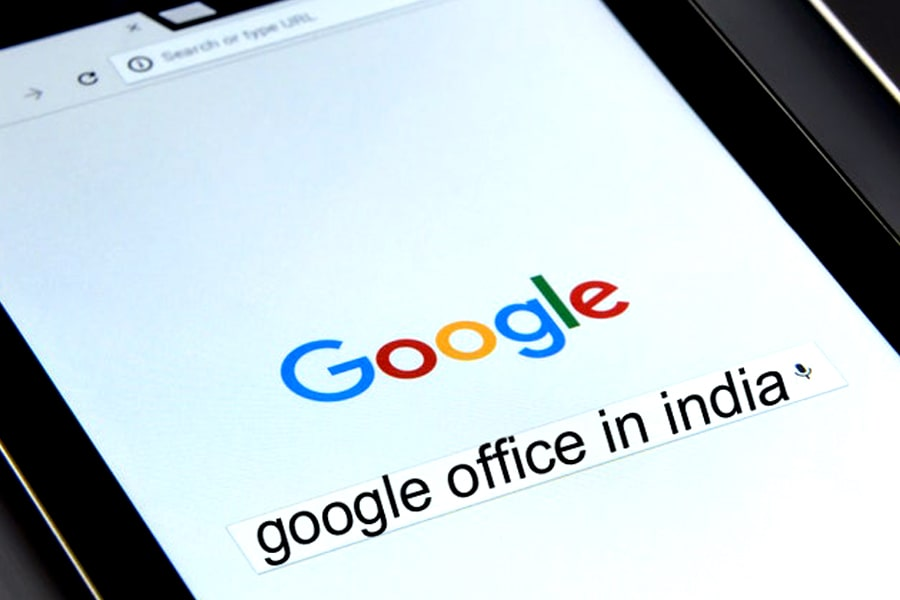 Google Search box with text google office in india