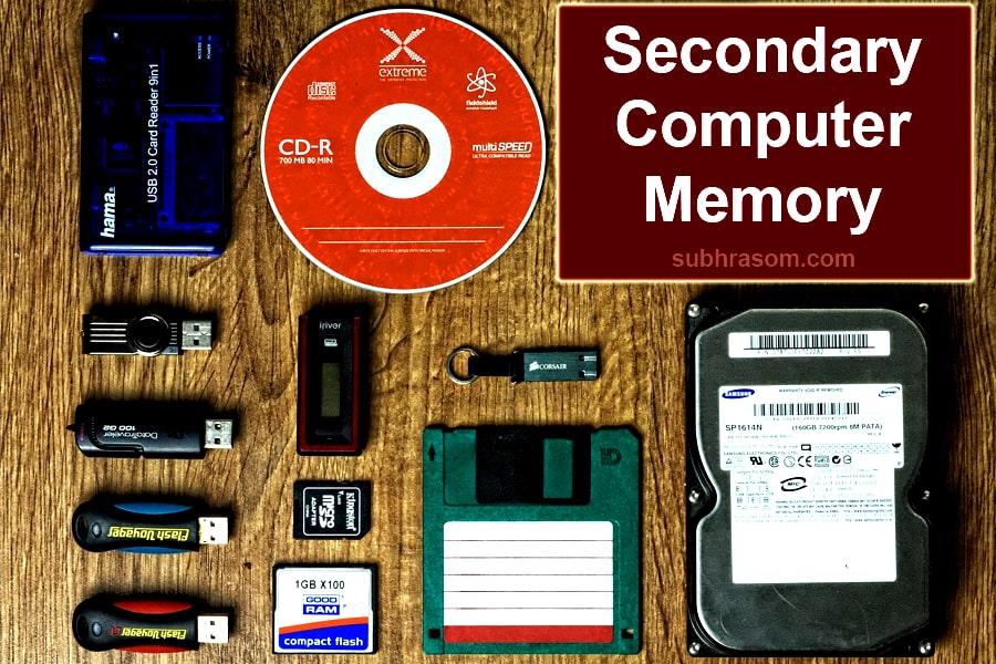 secondary computer memory