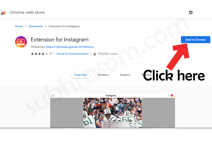 Extension for Instagram