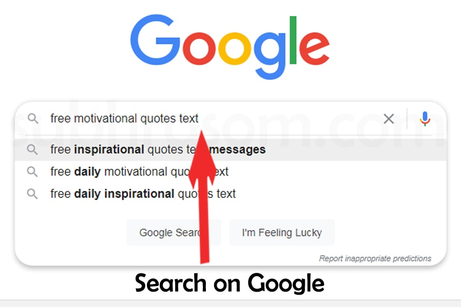 searching motivational quotes text in google for making a meme